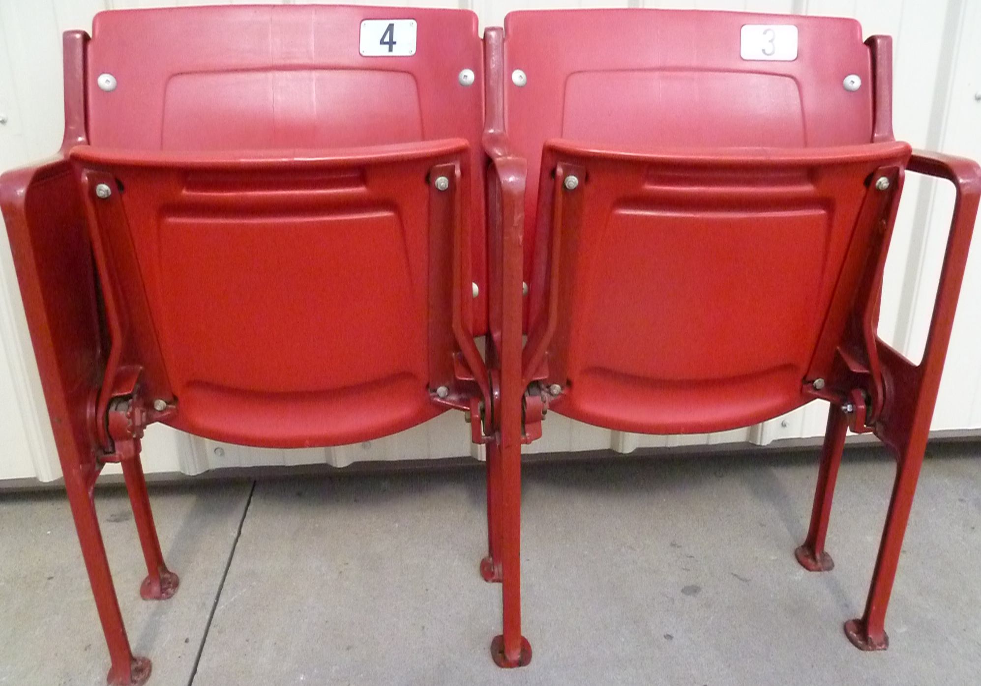 Busch Stadium seats - red floor mount