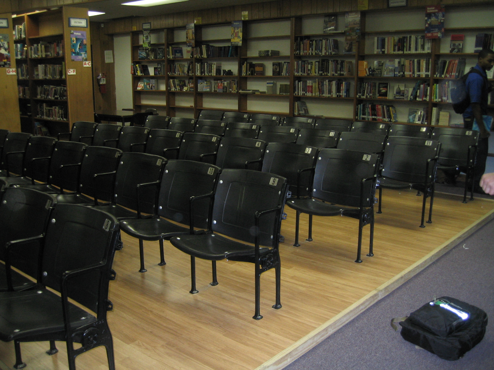 AV room in library at John Curtis Christian HS