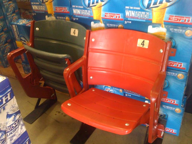 Milwaukee County Stadium collectible stadium seats