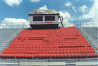 LBHS football stadium - reserve section w/ S&S Seating's chairback seats